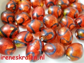 Grd 100 Oval Red & Black, 13mm