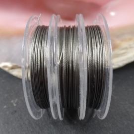 Gecoat Staaldraad Rolletje ca. 10 meter 0.38mm, zilverkleur