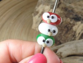IKMC0001: Set of 3 Eyes-Beads, appx 8x15mm