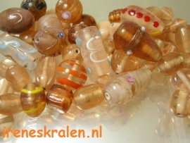 GO 27 GlassBead Mix Peach, appx 100 gram