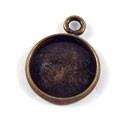 Gd/Br 112 Hangertje met platvlak bronskleur, om te beplakken. 16mm
