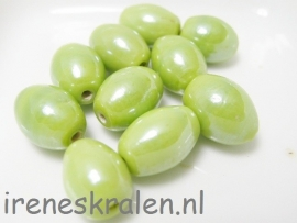 GG 157 Oval lime, 12mm, lampwork