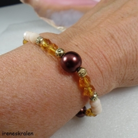 BR0111: Bracelet pearls and facetted beads