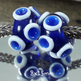 BH0011: Set of 2x Octopus CobaltBlue, appx 8x15mm