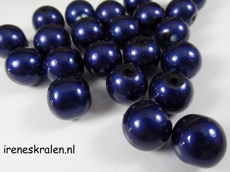 GBL 006: GlassBead DarkBlue, appx 10mm