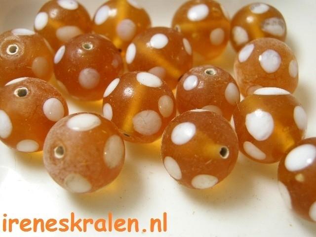 GO 53 Orange & White dots, 12mm