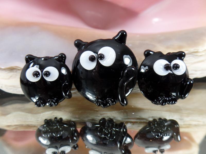 IKZW0021: Set van 3 Katten Lentils Dubbelzijdig