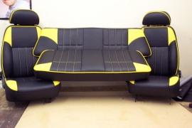 Compleet interieur: MPI Zwart/Geel