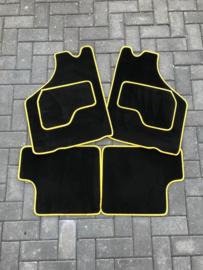 Mattenset zwart/geel