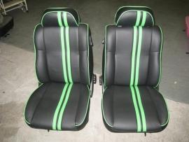 Compleet interieur: MPI Stripes Zwart/Groen