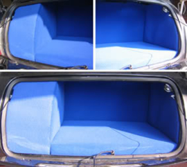 Kofferbak bekleding blauw