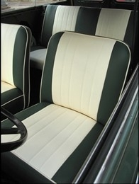 Compleet interieur: Mk1 Cooper groen/beige