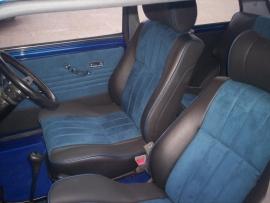 Compleet interieur: MPI Zwart/Blauw alcantara