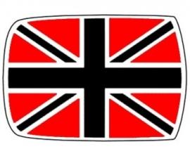 Dak sticker Union Jack Grijs