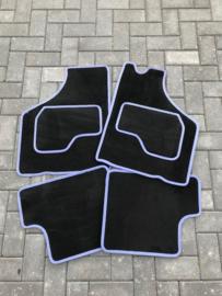 Mattenset zwart/blauw
