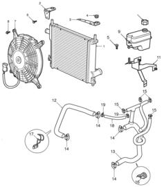 Radiator Aluminium MPI 1997 tm 2000