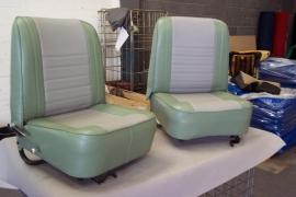 Compleet interieur: Mk1 Cooper groen/grijs