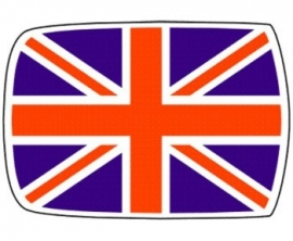 Dak sticker Union jack standaard