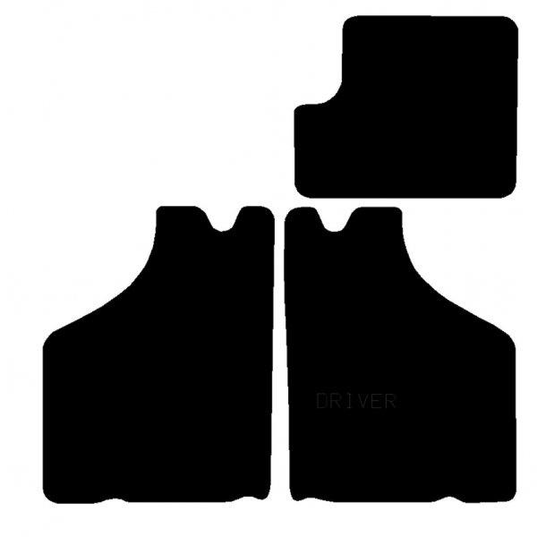 Mattenset 4 delig Zwart