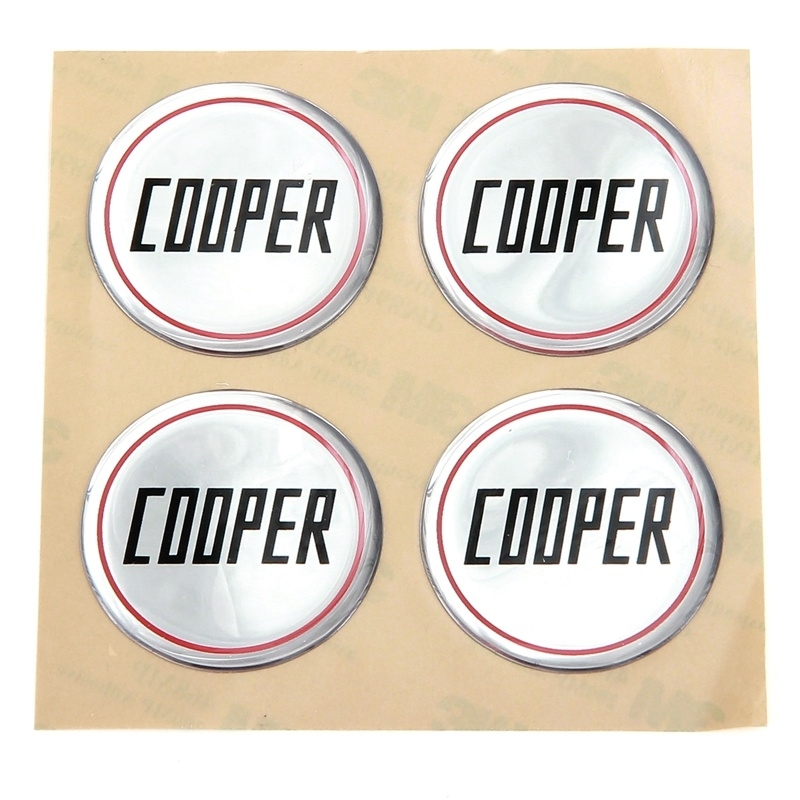 John Cooper center cap sticker set 4