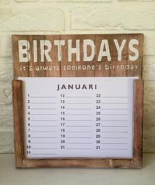 Verjaardagskalender Birthdays