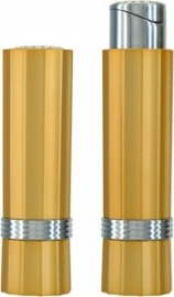 Pierre Cardin Lipstick yellow metallic & Swarovski Stones **