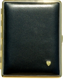 Luxe Cigar Case leather w.hav. black/gold /10