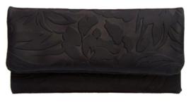 Mestango roll-up leder Floral zwart