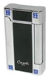 Caseti Lighter N.Y. Chrome Black Crystal