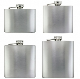 Flask chroom 4 ass 4/5/6/7 OZ (8)