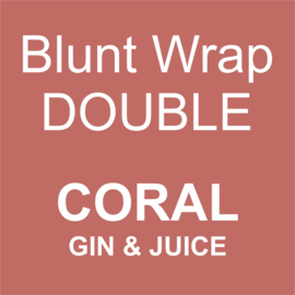 Blunt Wrap Double Platinum CORAL (Gin and Juice) (25)
