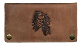 "Luxe Leder Shagetui Hunter brown ""Indiaan"""