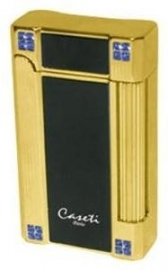 Caseti Lighter N.Y. Black Gold Crystal
