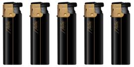 Aansteker turbo Rubber zwart goud (50)