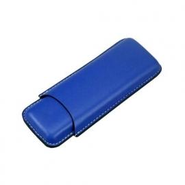 Sigarenkoker kunstleder 2st blauw