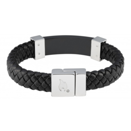 Zippo Steel Braided Leather Bracelet - 20 x 1.4 x 0.8