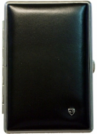 Luxe Cigar Case leather black/chrome cor/pan /10
