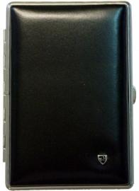 Luxe Cigar Case leather black/chrome cor/pan /10