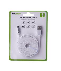 Tekmee Laadkabel micro USB 2 mtr wit (30)