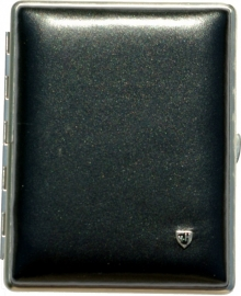 Luxe Cigar Case leather w.hav. black/chrome /10