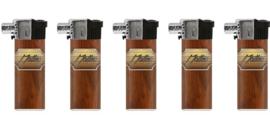 Pijpaansteker piezo navulbaar Leather design (25)