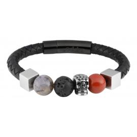 Zippo Leather Bracelet With Charms 22 x 1 x 1 cm
