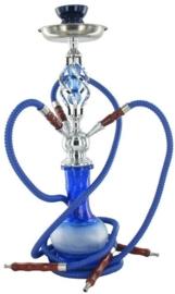 Waterpijp 3sl 51cm blauw