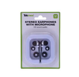 Tekmee Stereo oordopjes met microfoon zwart - wit (12)