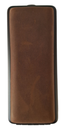 Sigarenkoker Leder geschuurd bruin 100mm w.cigarillo's
