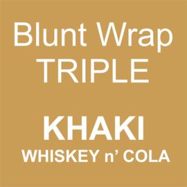 Blunt Wrap Triple Platinum KHAKI (Whiskey n' Cola) (15)