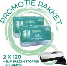 Korona Promo pakket MENTHOL  slim /32