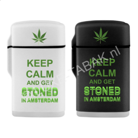 Jetflame rubber Amsterdam Keep calm get stoned GREEN (20)