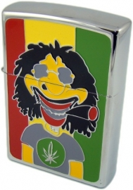 Angel petrol lighter Rasta man 11 cm
