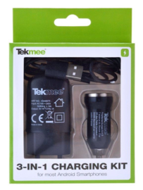 Tekmee Travel kit micro USB zwart (12)